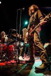 Toody Cole -bajo y voz-, Andrew Loomis -batería- y Fred Cole -guitarra y voz- de Dead Moon, Sala Caracol, Madrid. 2015