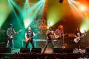 "Txelu ""Porco"" -bajo-, Asier ""Indomable"" -guitarra-, Oskar ""Puro d'Oliva"" -batería-, Manu ""Gallego"" -voz- y Asier ""Pulpo"" -guitarra- de Porco Bravo, Santana 27, Bilbao. 2015"