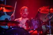"Oskar ""Puro d'Oliva"", baterista de Porco Bravo, Santana 27, Bilbao. 2015"