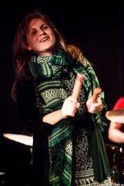 Irina Uscatu, percusionista invitada de Gerente, La Ribera, Bilbao. 2015