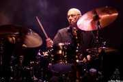 Mark Teixeira, baterista de Duke Robillard Band, Kafe Antzokia, Bilbao. 2015