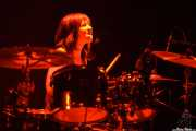 Ilargi Agirre, baterista de Screamin' George & The Hustlers, Santana 27, Bilbao. 2015