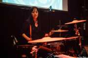 Lena Huracán Coltrane, baterista de The Dirty Coal Train, Fuzz in the city 2015, Bilbao. 2015