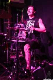 Phil the Beast, baterista de The Brains, Kafe Antzokia, Bilbao. 2015
