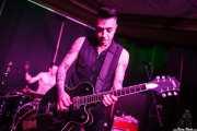 Rene D La Muerte -voz y guitarra- y Phil the Beast -batería- de The Brains, Kafe Antzokia, Bilbao. 2015