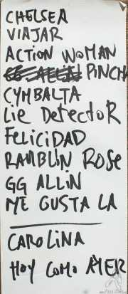 Setlist de Lie Detectors, Kafe Antzokia, Bilbao. 2015