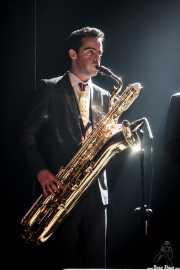 Joel Rocha, saxofonista de TT Syndicate, Kafe Antzokia, Bilbao. 2015