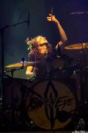 Kev Hickman, baterista de RavenEye, Bilbao. 2015