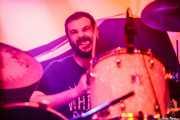 Claudio F. Paván, baterista de Señores, Santana 27, Bilbao. 2015