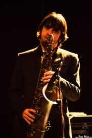 Jordi Blanch, saxofonista de The Excitements, Social Antzokia, Basauri. 2015