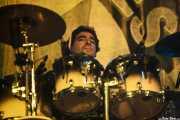 Tino Mojón, baterista de Los Suaves, Santana 27, Bilbao. 2015