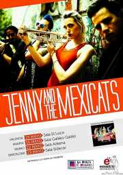 Cartel de Jenny and the Mexicats, Sala Azkena, Bilbao.