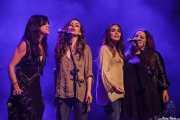 Sara Íniguez, Verónica Ferreiro, Carolina García y Judith López -voces coristas- de Mike Farris, Social Antzokia, Basauri. 2015