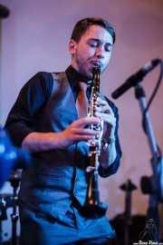 Juli Aymi, clarinetista y saxofonista de Doc Scanlon's Swingsters, Gastroswing - Palacio Europa, Vitoria-Gasteiz. 2015