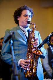 Dann Lipsitz, clarinetista y saxofonista de The Gordon Webster Band, Gastroswing - Artium, Vitoria-Gasteiz. 2015