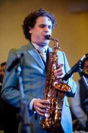Dann Lipsitz, clarinetista y saxofonista de The Gordon Webster Band, Gastroswing - Artium, Vitoria-Gasteiz. 2015