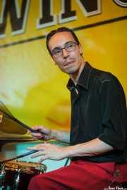 Martí Elías, baterista de The Gordon Webster Band, Gastroswing - Artium, Vitoria-Gasteiz. 2015