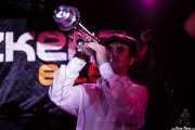 Jon Ander Burgos, trompetista de Ghost Number & His Tipsy Gypsies, Sala Azkena, Bilbao. 2015