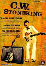 Cartel de C.W. Stoneking, Sala Azkena, Bilbao.