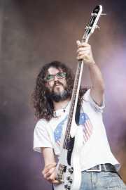 Miguel Moral, cantante y bajista de Highlights, Azkena Rock Festival, Vitoria-Gasteiz. 2015