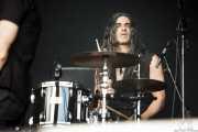 Michael Wildwood, baterista de D Generation, Azkena Rock Festival, Vitoria-Gasteiz. 2015