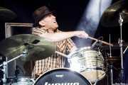 Matt Lynott, baterista de The White Buffalo, Azkena Rock Festival, Vitoria-Gasteiz. 2015