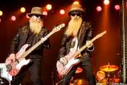 Dusty Hill -bajo y voz-, Billy Gibbons -guitarra y voz- y Frank Beard -batería- de ZZ Top, Azkena Rock Festival, Vitoria-Gasteiz. 2015