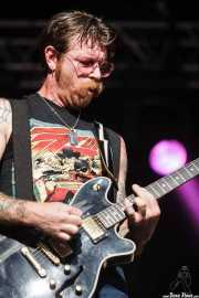 Jesse Hughes, cantante y guitarrista de The Eagles of Death Metal, Azkena Rock Festival, Vitoria-Gasteiz. 2015
