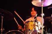 Mario Rubalcaba, baterista de Off!, Azkena Rock Festival, Vitoria-Gasteiz. 2015