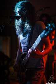 Miguel Moral, cantante y guitarrista de Landslide, Satélite T, Bilbao. 2015