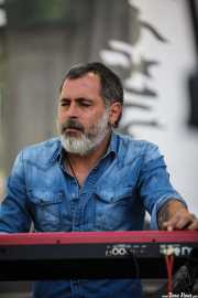César Pop, teclista de Lichis, BluesCazorla - Plaza de toros, Cazorla. 2015