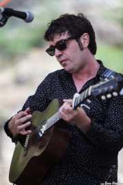 """Miguel Ángel Hernando """"Lichis"""", cantante y guitarrista, BluesCazorla - Plaza de toros, Cazorla. 2015"""