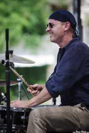 Benji Bohannon, baterista de Luke Winslow-King, BluesCazorla - Plaza de Santa María, Cazorla. 2015