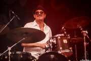 Silvio Berger, baterista de Igor Prado Band & Willie Walker, BluesCazorla - Plaza de toros, Cazorla. 2015