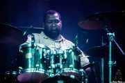 Curtis Nutall, baterista de Selwyn Birchwood Band, BluesCazorla - Plaza de toros, Cazorla. 2015