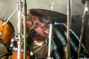 Mario Goossens, baterista de Triggerfinger, Bilbao BBK Live, Bilbao. 2015
