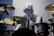 Ion, baterista de Shaka Ponk, Bilbao BBK Live, Bilbao. 2015