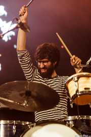 Guillermo Aragón, baterista de Arizona Baby, Bilbao BBK Live, Bilbao. 2015