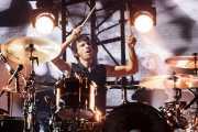 Dominic Howard, baterista de Muse, Bilbao BBK Live, Bilbao. 2015