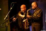 Greg Boyer -trombón- y Maceo Parker -voz, saxofón y flauta-, Getxo & Blues - Pza. Biotz alai, Getxo. 2015