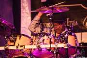 Dennis Chambers, baterista de Maceo Parker, Getxo & Blues - Pza. Biotz alai, Getxo. 2015