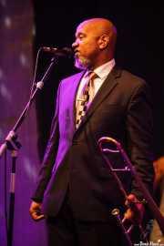 Greg Boyer, trombonista de Maceo Parker, Getxo & Blues - Pza. Biotz alai, Getxo. 2015