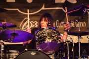 Demi Lee Solorio, baterista de Eric Sardinas & Big Motor, Getxo & Blues - Pza. Biotz alai, Getxo. 2015