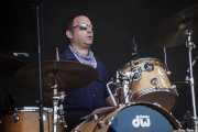 Iñaki Astoreka, baterista de The Uski's, Mundaka Festival, Mundaka. 2015
