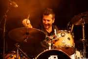 Isi Redondo, baterista de Travellin' Brothers Big Band, Mundaka Festival, Mundaka. 2015