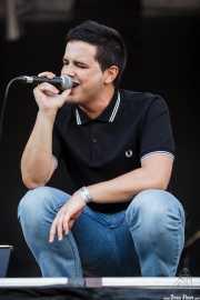 Imanol 'Lolo' Fortes, cantante y guitarrista de Smoke Idols (Mundaka Festival, Mundaka, 2015)