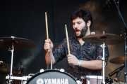 "Roberto Granado ""Bop"", baterista de Peachy Joke, Mundaka Festival, Mundaka. 2015"