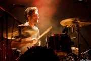 Jorge Fuertes. baterista de We are standard, Mundaka Festival, Mundaka. 2015