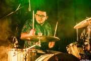 Esteban Gaviria, baterista de Jesucrista, Aste Nagusia - Txosna Komantxe, Bilbao. 2015