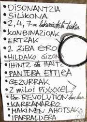 Setlist de Inoren ero ni, Kafe Antzokia, Bilbao. 2015